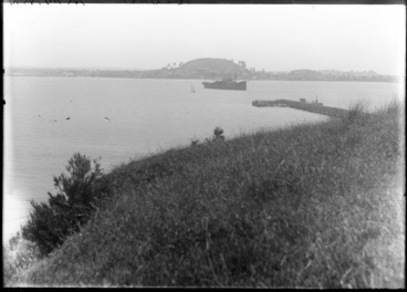 Image: Looking northwest by north from Takaparawha Point, Orakei...1931