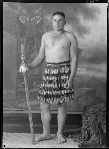 Image: Maori warrior with spear