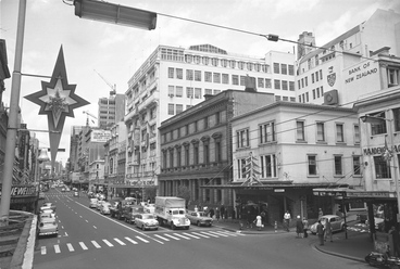 Image: Looking up the west side of Queen Street...