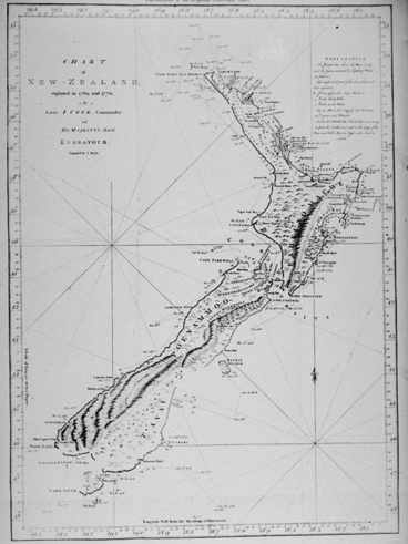 Image: Captains Cook Chart of New Zealand