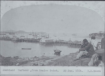 Image: Looking east from Smales Point showing Queen Street Wharf....