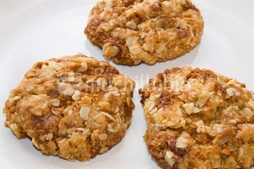 Image: Three Anzac biscuits