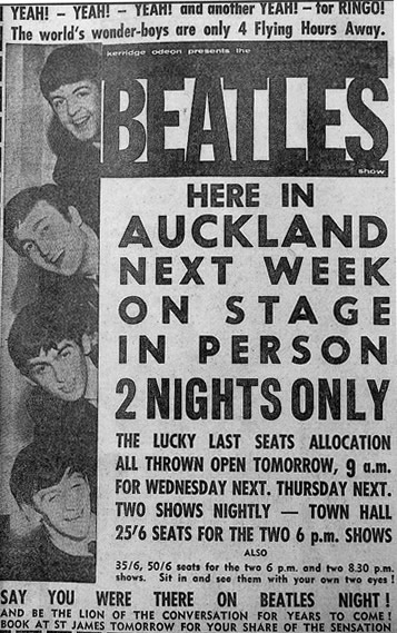 Image: The Beatles come to Auckland