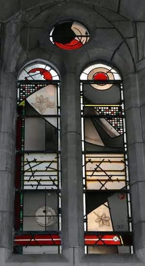 Image: Erebus disaster memorial windows at St Matthew's