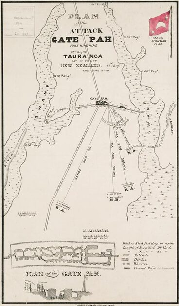 Image: Plan of attack on Gate Pā