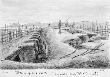 Image: Sketch of Gate Pā
