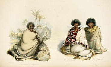Image: Painting of Pōtatau Te Wherowhero and two other chiefs