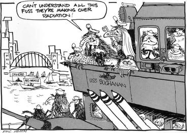 Image: USS Buchanan anti-nuclear cartoon