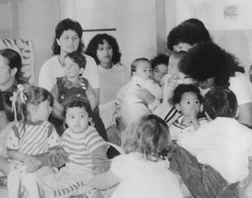 Image: Teaching pre-schoolers Māori Language