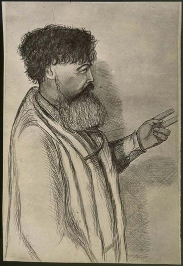 Image: Sketch of Te Whiti-o-Rongomai