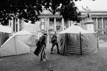 Image: Tent embassy at Parliament, 1975