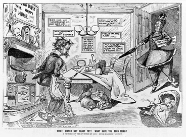 Image: Cartoon against women's suffrage