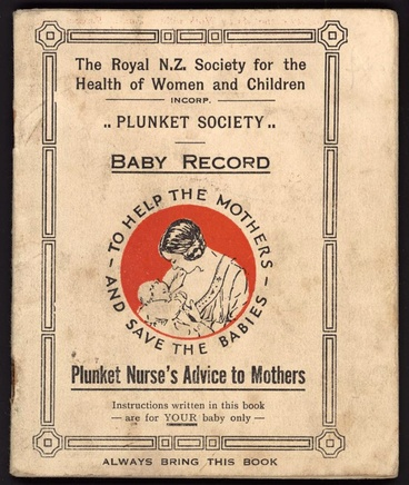 Image: Plunket Society baby booklet