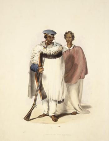 Image: Hone Wiremu Heke Pokai (left) and Eruera Maihi Patuone by George French Angas
