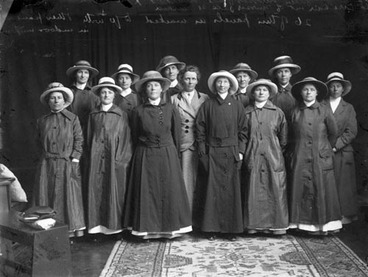 Image: Ettie Rout with her Volunteer Sisterhood