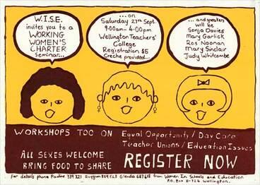 Image: Working Women's Charter seminar poster, 1980