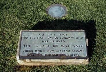 Image: Plaque, Waitangi