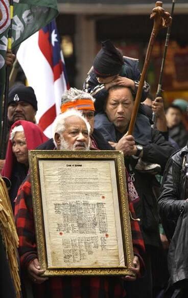 Image: Invoking the Treaty of Waitangi