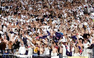 Image: All Whites fans celebrate