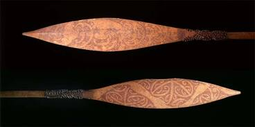 Image: Paddles obtained on Cook's first voyage