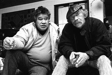 Image: Hone Tuwhare and Ralph Hotere, 1987