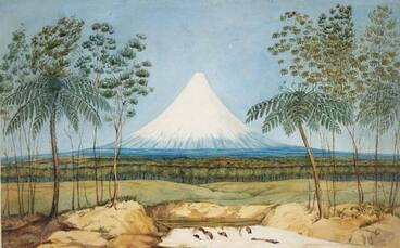 Image: Charles Heaphy, 'Mt Egmont from the southward'