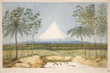 Image: Mt Taranaki (Egmont) by Charles Heaphy, 1840