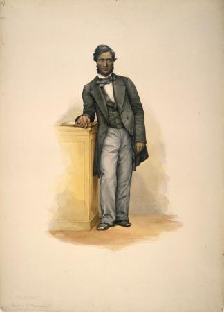 Image: Portrait of Tamihana Te Rauparaha by George French Angas