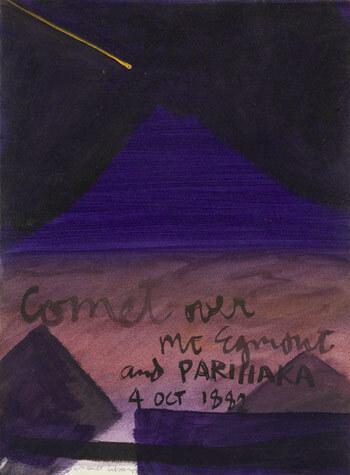 Image: 'Comet over Mt Taranaki and Parihaka'
