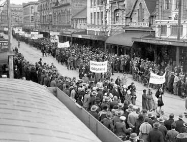 Image: Unemployed demonstration