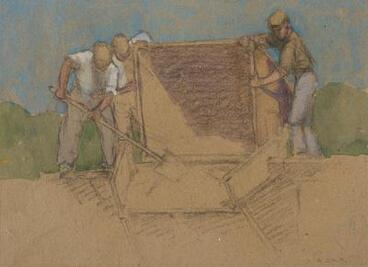 Image: Miners Emptying a Truck