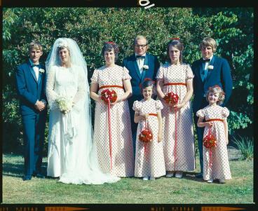 Image: Negative: McLean-Evans wedding