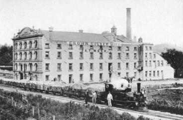 Image: Meek's Mill & small locomotive train