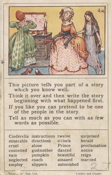 Image: Teaching card, Cinderella