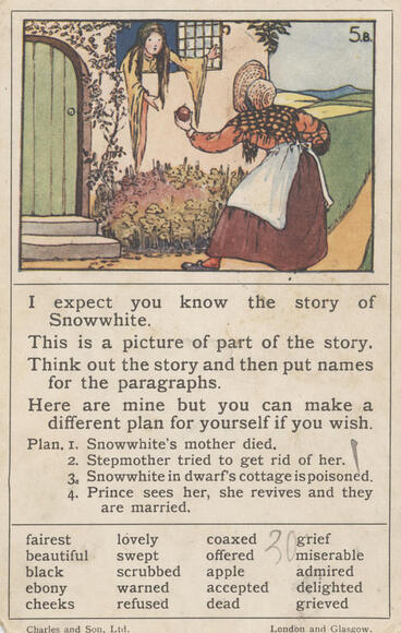 Image: Teaching card, Snowwhite