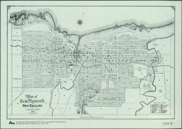 Image: Plan of New Plymouth in New Zealand [map]