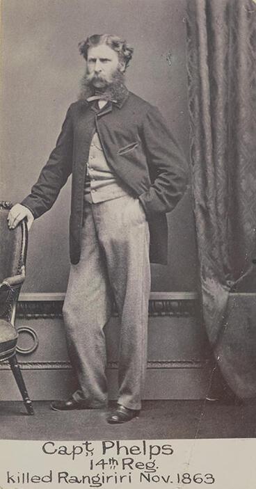 "Image: ""Capt. Phelps, 14th Reg., killed Rangiriri Nov. 1863"""