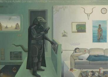 Image: Reptilian Future Cop Indoctrination