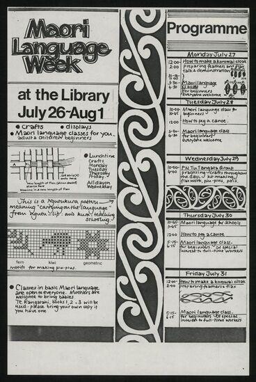 Image: Maori Language Week poster