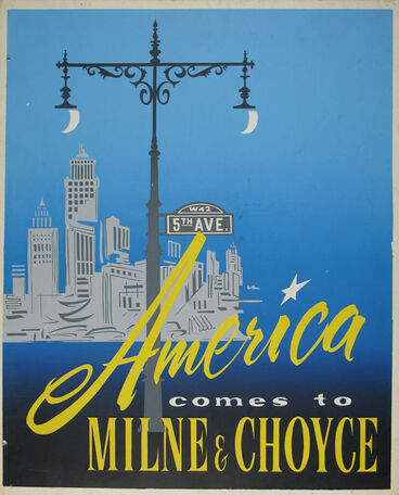 Image: Milne and Choyce advertising poster