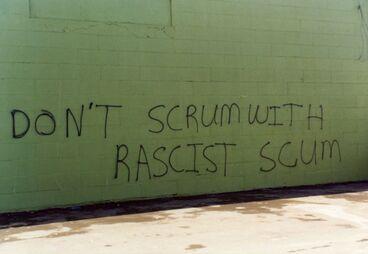 Image: Springbok Tour - graffiti