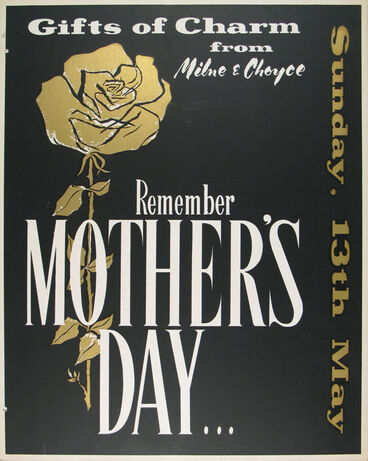 Image: Milne and Choyce advertising poster for Mother's Day