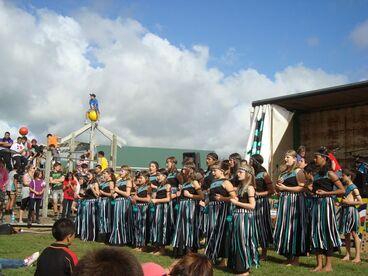 Image: Ohau School Kapa Haka Group in action - 19 March 2011