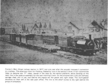 Image: Foxton Railway Station, 1877