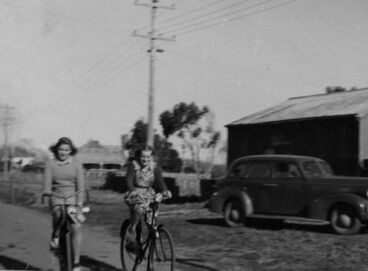 Image: Two Unidentified Women Cyclists