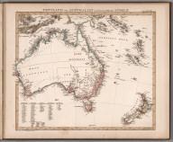 Image: No. LXIII. Stieler's Hand-Atlas (No. 50b). Festland von Australien und benachbarte Inseln.