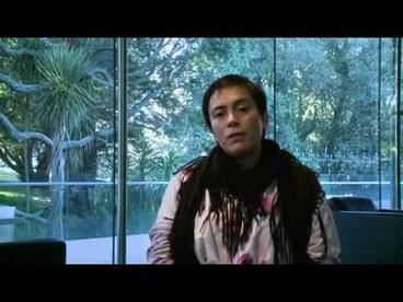 Image: Artist Lisa Reihana speaks on the use of Te Reo in her work