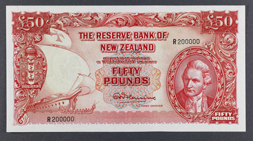 A New Zealand 1951 Fifty Pound Note
