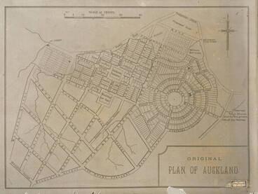 Image: Original plan of Auckland