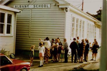 Image: Albany School centennial reunion.